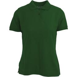textil Dam Kortärmade pikétröjor Absolute Apparel  Flaskegrön