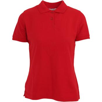 textil Dam Kortärmade pikétröjor Absolute Apparel  Röd