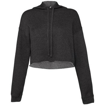 textil Dam Sweatshirts Bella + Canvas BL7502 Mörkgrått ljummet