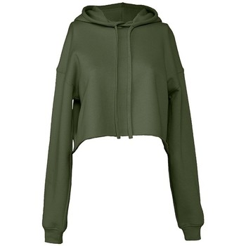 textil Dam Sweatshirts Bella + Canvas BL7502 Militärt grönt