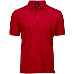 textil Herr Kortärmade pikétröjor Tee Jays T1405 Röd