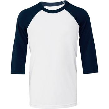 textil Dam T-shirts Bella + Canvas BE218 Vitt/blått
