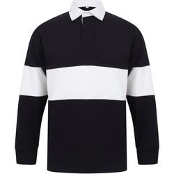 textil Långärmade pikétröjor  Front Row FR07M Marinblått/vit