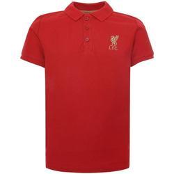 textil Barn Kortärmade pikétröjor Liverpool Fc  Röd
