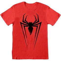 textil T-shirts & Pikétröjor Marvel  Röd/Svart