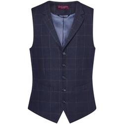 textil Herr Kostymvästar Brook Taverner BR180 Marinblå ruta