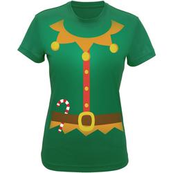 textil Dam T-shirts & Pikétröjor Christmas Shop CS143 Grön