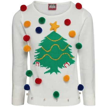 textil Dam Sweatshirts Christmas Shop CJ102 Vit