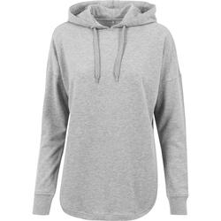textil Dam Sweatshirts Build Your Brand BY037 Grått