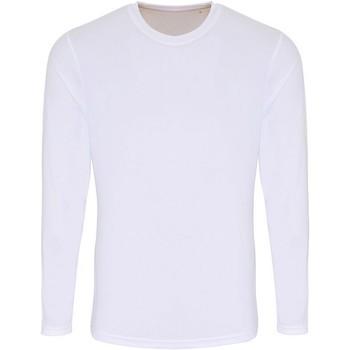 textil Herr Långärmade T-shirts Tridri TR050 Vit