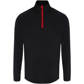textil Herr Långärmade T-shirts Tridri TR110 Svart/röd