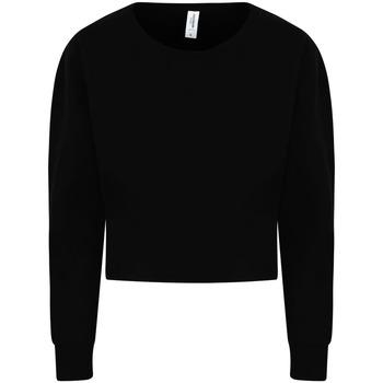 textil Dam Sweatshirts Awdis JH035 Djupt svart