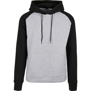textil Herr Sweatshirts Build Your Brand BB005 Grått/svart
