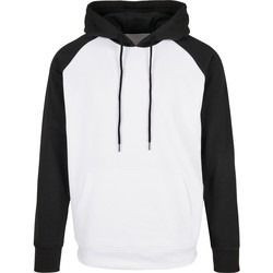textil Herr Sweatshirts Build Your Brand BB005 Vit/Svart