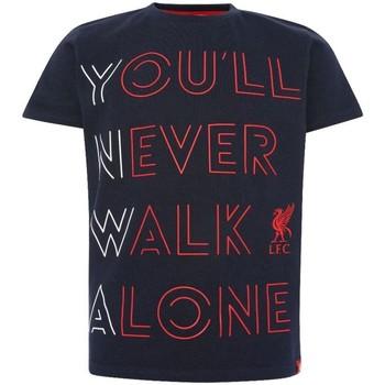 textil Barn T-shirts & Pikétröjor Liverpool Fc  Marinblått/rött