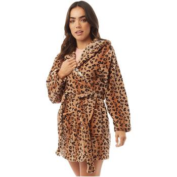 textil Dam Pyjamas/nattlinne Brave Soul  Leopardtryck