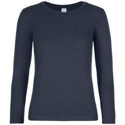 textil Dam Långärmade T-shirts B And C TW08T Marinblått