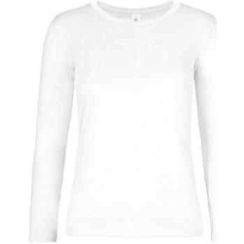 textil Dam Långärmade T-shirts B And C TW08T Vit