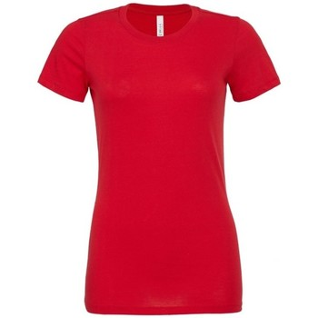 textil Dam T-shirts & Pikétröjor Bella + Canvas BE6400 Röd