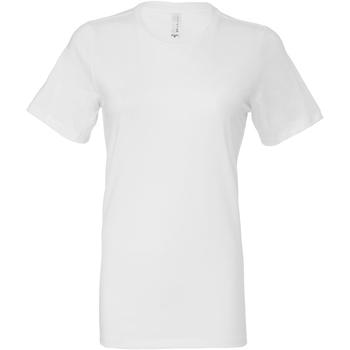 textil Dam T-shirts & Pikétröjor Bella + Canvas BE6400 Vit