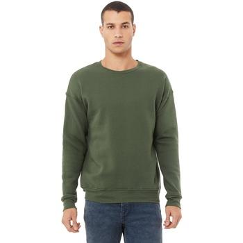 textil Herr Sweatshirts Bella + Canvas CA3945 Militärt grönt