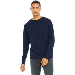 textil Herr Sweatshirts Bella + Canvas CA3945 Marinblått