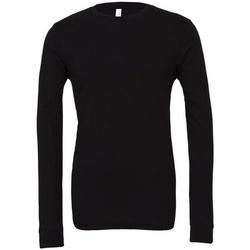 textil Långärmade T-shirts Bella + Canvas CA3501 Svart