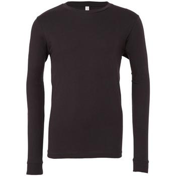 textil Långärmade T-shirts Bella + Canvas CA3501 Mörkgrå
