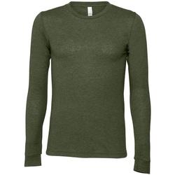 textil Långärmade T-shirts Bella + Canvas CA3501 Militärt grönt