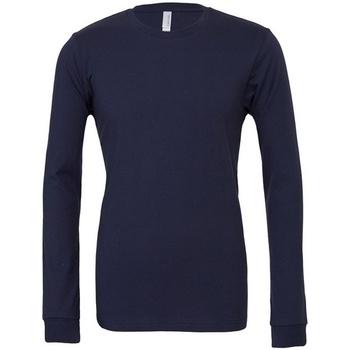 textil Långärmade T-shirts Bella + Canvas CA3501 Marinblått
