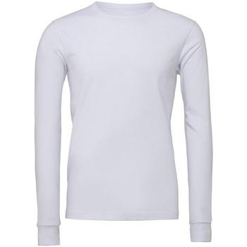 textil Långärmade T-shirts Bella + Canvas CA3501 Vit