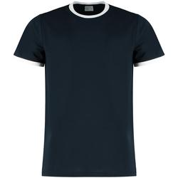 textil Herr T-shirts & Pikétröjor Kustom Kit KK508 Marinblått/vit