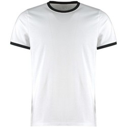 textil Herr T-shirts & Pikétröjor Kustom Kit KK508 Vit/Svart