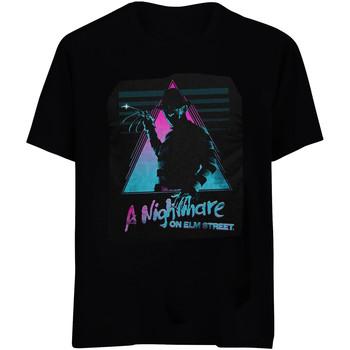 textil T-shirts & Pikétröjor Nightmare On Elm Street  Svart