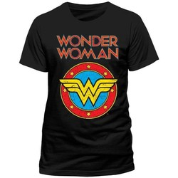 textil T-shirts & Pikétröjor Wonder Woman  Svart