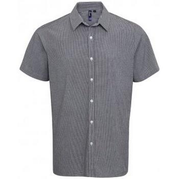 textil Herr Kortärmade skjortor Premier PR221 Svart/vit