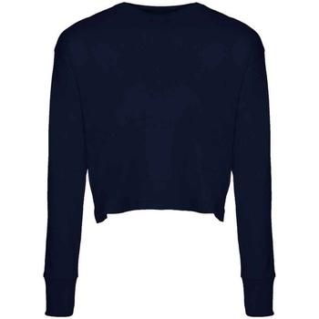 textil Dam Långärmade T-shirts Next Level NX7481S Marinblått