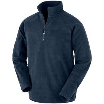 textil Herr Sweatshirts Result Genuine Recycled RS905 Marinblått