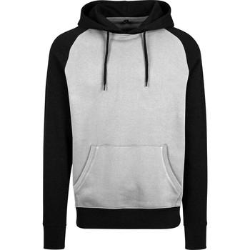 textil Herr Sweatshirts Build Your Brand BY077 Grå/Svart