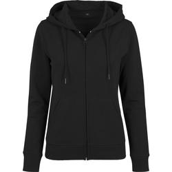 textil Dam Sweatshirts Build Your Brand BY069 Svart