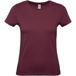 textil Dam T-shirts B And C B210F Bourgogne