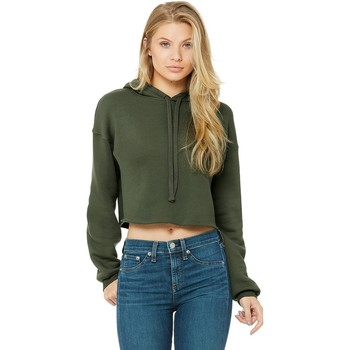 textil Dam Sweatshirts Bella + Canvas BE7502 Militärt grönt