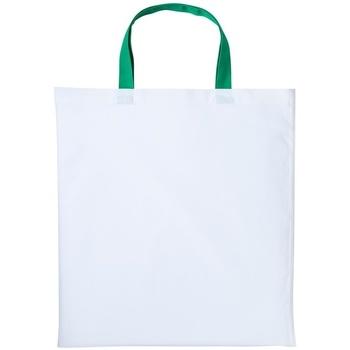 Väskor Handväskor med kort rem Nutshell RL130 Vit/Kelly Green