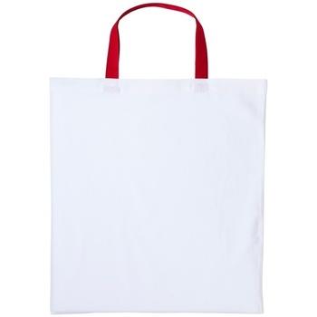Väskor Handväskor med kort rem Nutshell RL130 Vit/Röd