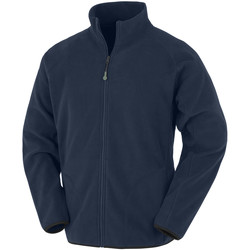 textil Herr Fleecetröja Result Genuine Recycled R907X Marinblått