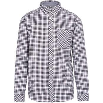 textil Herr Långärmade skjortor Trespass  Grått