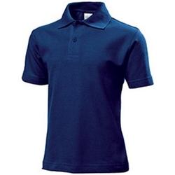 textil Barn T-shirts & Pikétröjor Stedman  Marinblått