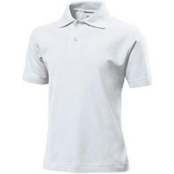 textil Barn T-shirts & Pikétröjor Stedman  Vit