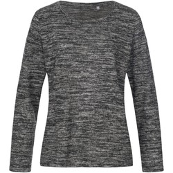 textil Dam Sweatshirts Stedman  Mörkgrå melange