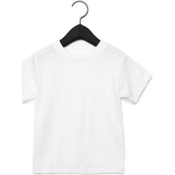 textil Barn T-shirts & Pikétröjor Bella + Canvas CA3001T Vit